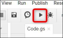 Click the Run icon