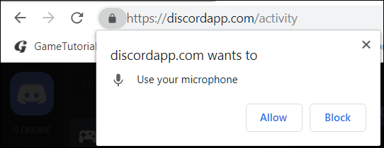 A prompt is displayed the next time a site tries to access your device