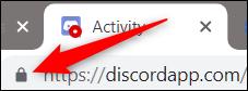 Click the lock icon in the Omnibox