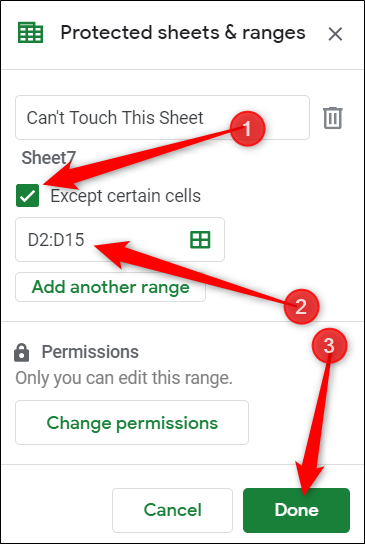 How to Protect Cells From Editing in Google Sheets