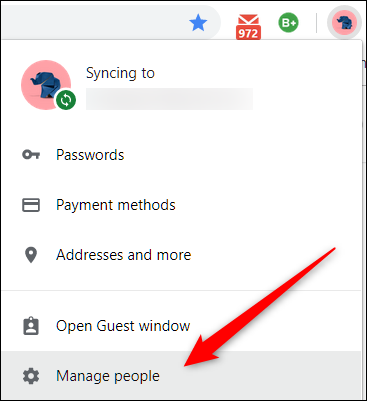 If Browse as Guest doesn't appear, click on Manage people instead