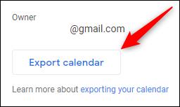 """El botón """"Exportar calendario"""""""