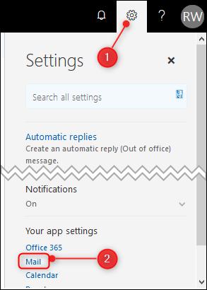 La configuración clásica de Outlook