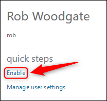 The Enable option