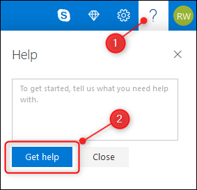The Get Help button