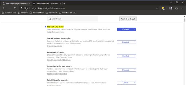 Microsoft's Chromium-Powered Edge Has a Dark Mode, Here's