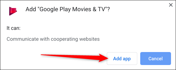 Review the permission, then click Add App