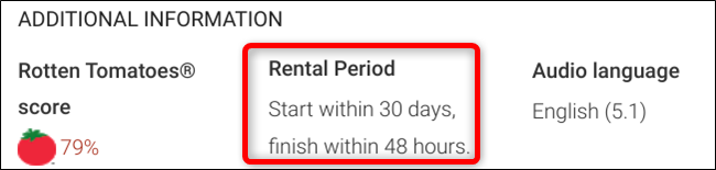 Rental period changes among rentals but are typically good for 30 days and you have to finish them within 48 hours