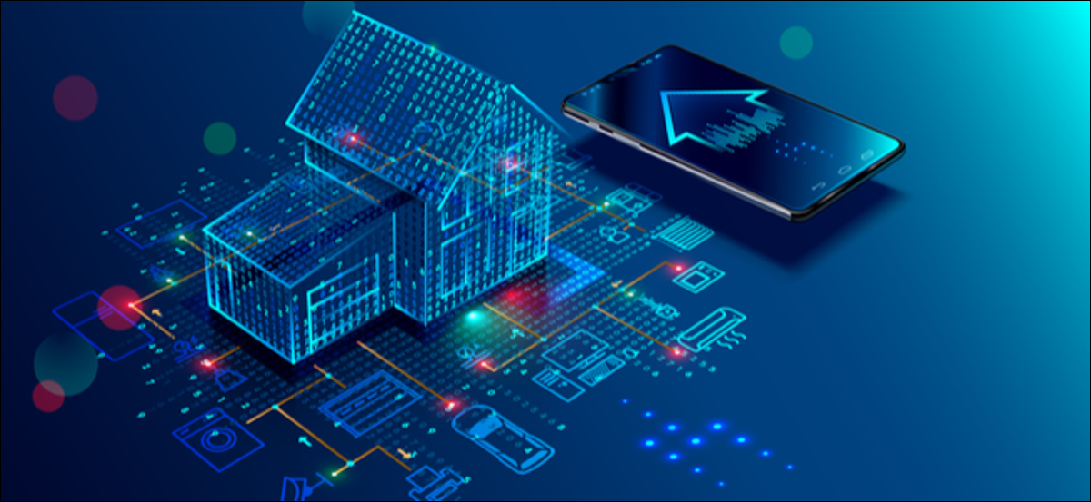Smart home connection and control with devices through home network.