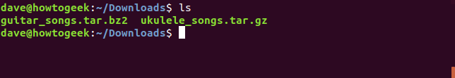 Two tar files in the downloads directory