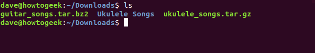 Ukulele Songs directory created in Downloads directory