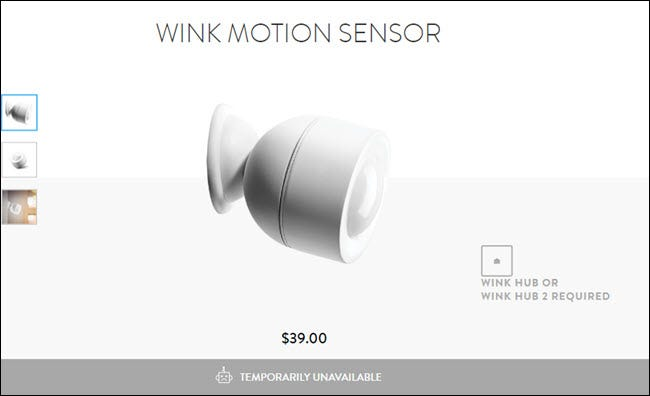Wink Motion sensor showing as temporarily unavailable