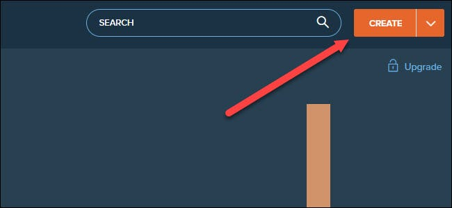 bit.ly site with arrow pointing to create button.