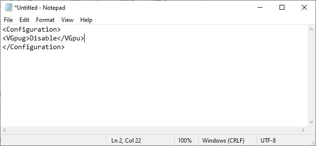 adding command to disable virtual gpu