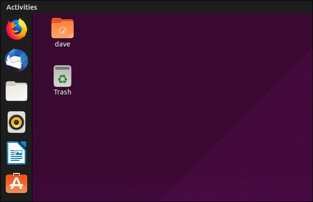 GNOME 3.32 application bar on Ubuntu 19.04