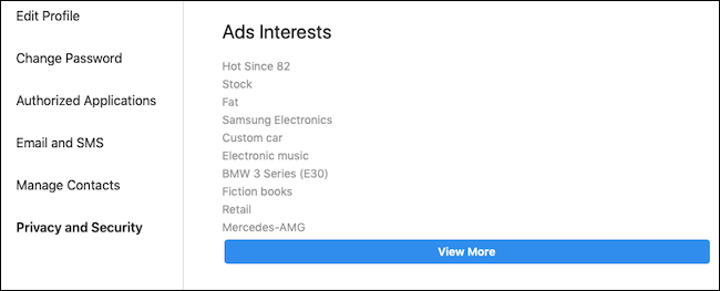Instagram ad data