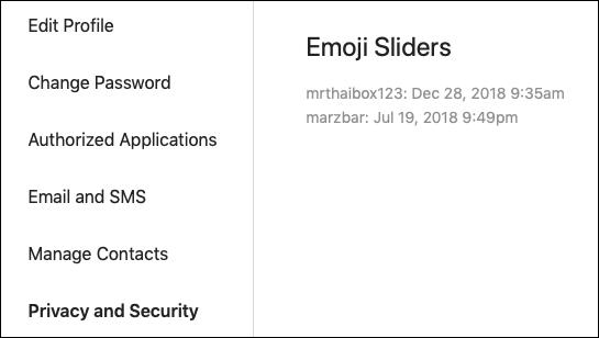 Instagram Emoji Slider data
