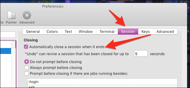 How to Close the macOS Terminal Automatically When a Process