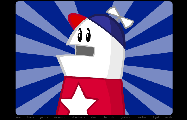 Homestar Runner using Adobe Flash