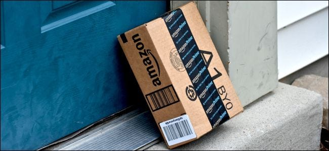 Amazon package on doorstep