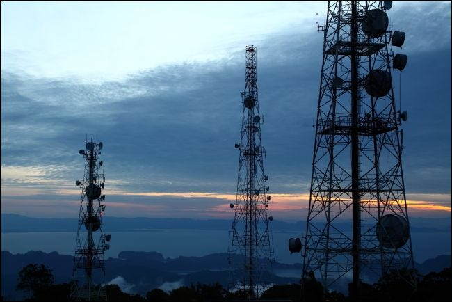 Cellular communications towers