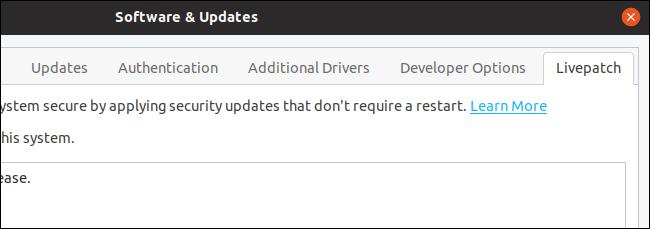 Livepatch options on Disco Dingo