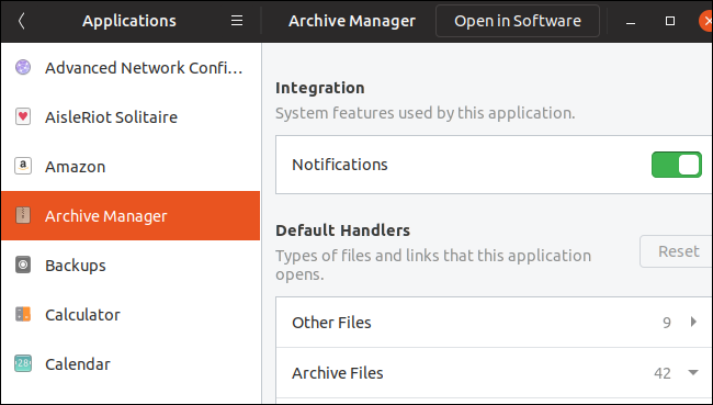 Application permissions settings on GNOME 3.32