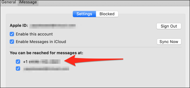 Messages preferences on macOS