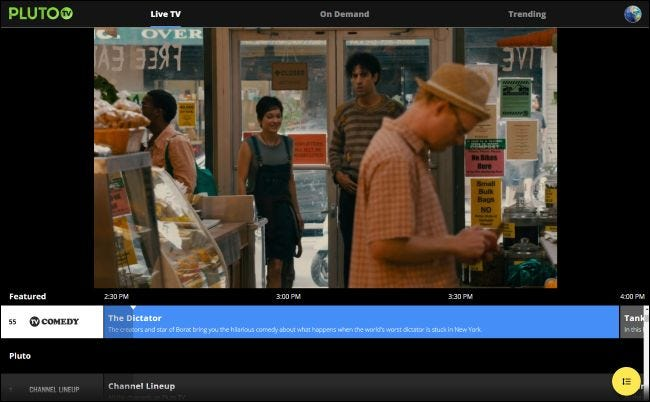 Watching The Dictator on Pluto TV for free