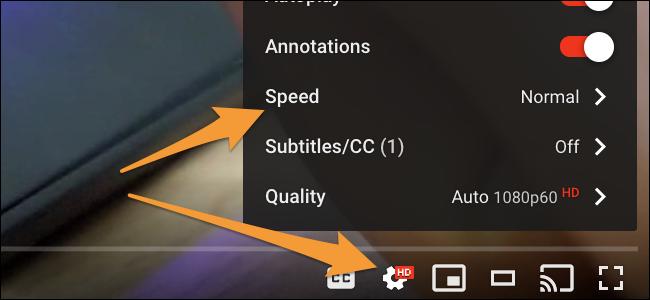 controles de velocidad de youtube