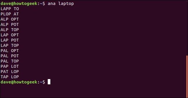 test of ana utility