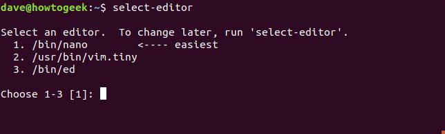 select-editor command