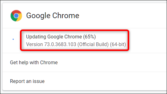 Google Chrome begins to update