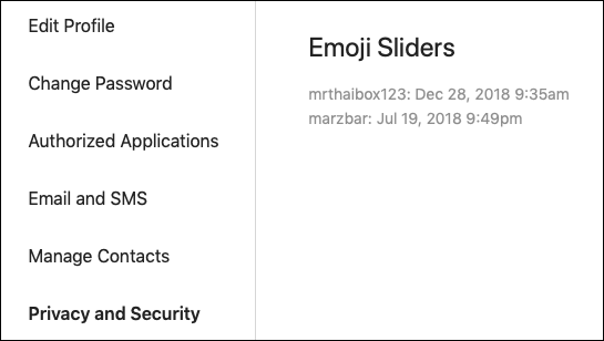Instagram Emoji Slider data