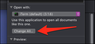 macOS open script with iTerm