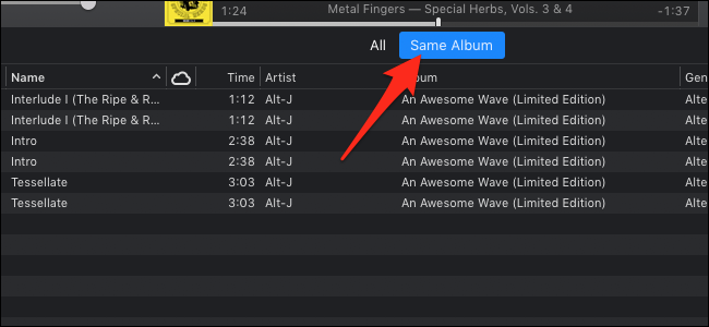MacOS iTunes duplicate items in same album