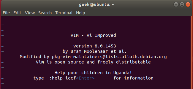 vi Editor on Ubuntu Linux