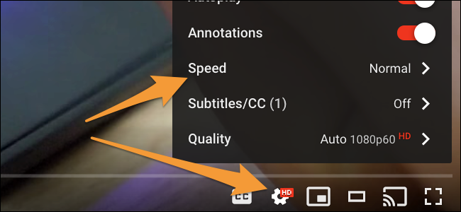 youtube speed controls