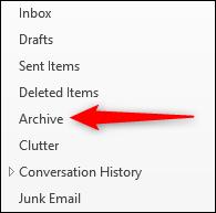 A single Archive folder