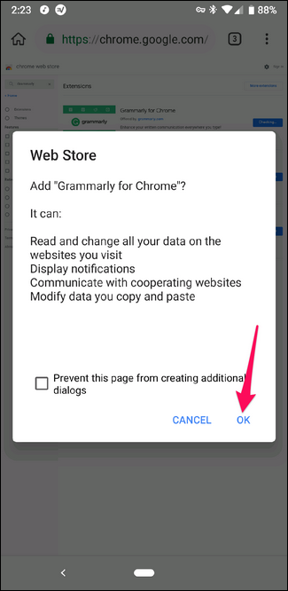 Installing a Chrome extension in Kiwi browser