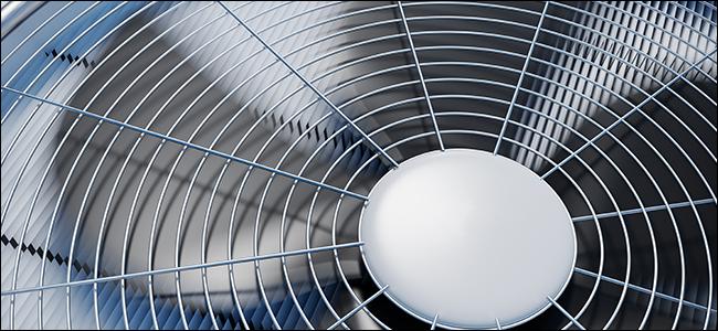 A close up photo of an HVAC AC unit