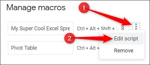 Click the plus icon, and then click Edit Script