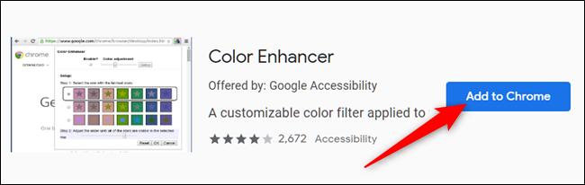 Haga clic en Agregar a Chrome en la extensión que desea agregar