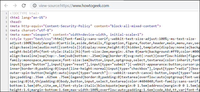 How To View The Html Source In Google Chrome