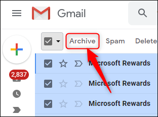 The Gmail Archive button