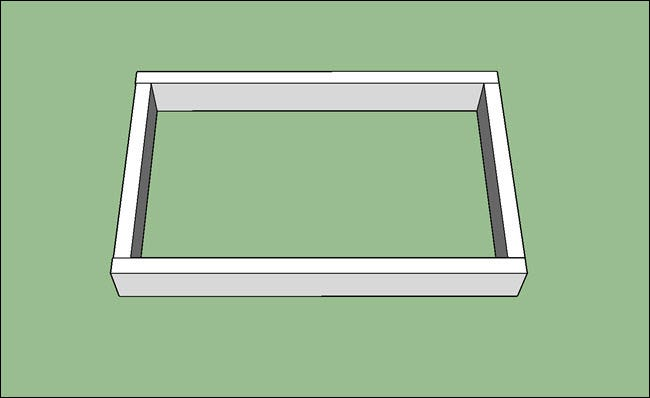 Four boards forming a rectangle.