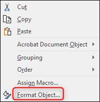 Format object