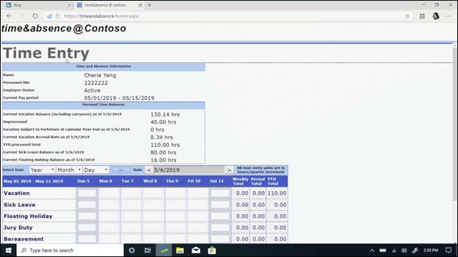 Internet Explorer mode inside Microsoft Edge.