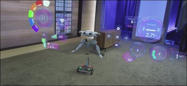 A raspberry pi powered Windows IOT robot with holograms
