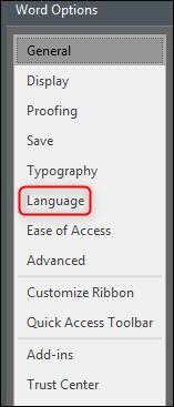 Opciones de lenguaje